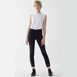 AGOLDE Sophie High Rise Skinny Crop - Temple